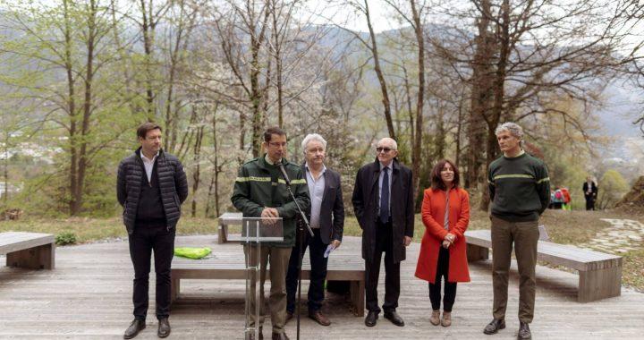 Mécénat Mutualia participe à l'inauguration de FORETsport® la Léchère-les-Bains